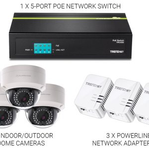 Alarm.com Indoor/Outdoor 3 Camera Bundle